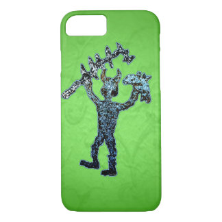 Ancient American Petroglyph Mighty Warrior iPhone 7 Case