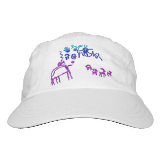 Ancient American Petroglyphs in Purple and Blue Headsweats Hat