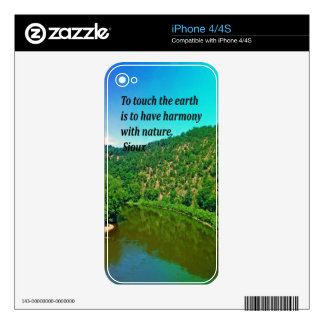 Ancient Americna Indian Proverb iPhone 4 Skins