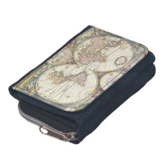 Ancient Antique Map of the World Wallet