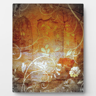 Ancient Antique Wallpaper Pattern Dark Eerie Desig Plaque