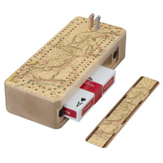 Ancient Asia Wood Cribbage Board