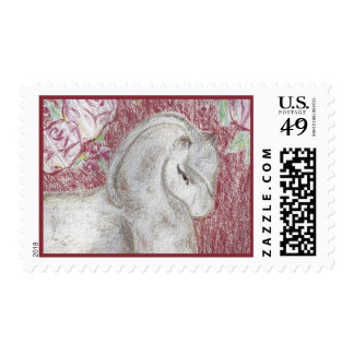 Ancient Asian Pony Postage Stamp