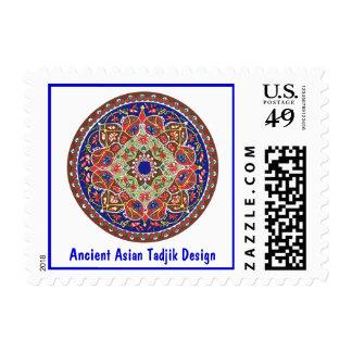 Ancient Asian Tadjik Design Postage Stamp