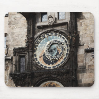 Ancient Astrology Timepiece Clock in Prague Czech Mouse Pad
