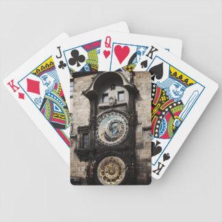 Ancient Astrology Timepiece Clock in Prague Czech Bicycle Card Decks