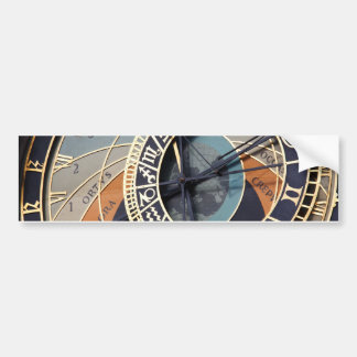 Ancient Astrology Timepiece Czech Clock. Car Bumper Sticker