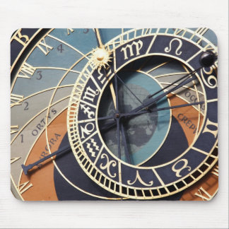 Ancient Astrology Timepiece Czech Clock. Mouse Pad