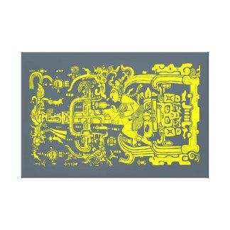 Ancient astronaut canvas print