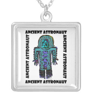 Ancient Astronaut Silver Plated Necklace
