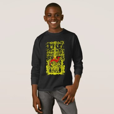 Aztec Themed Ancient astronaut yellow & red version T-Shirt