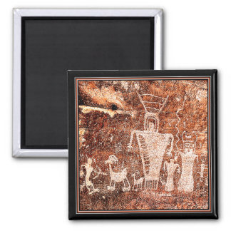 ANCIENT ASTRONAUTS 2 INCH SQUARE MAGNET