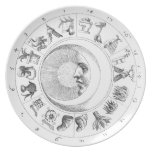 Ancient astronomy-astrology plate