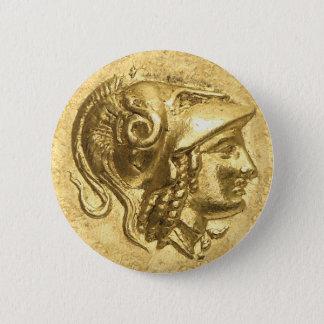 Ancient Athena Coin Button