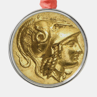 Ancient Athena Coin Metal Ornament