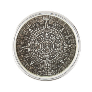 Ancient Aztec Calender Tie Pin