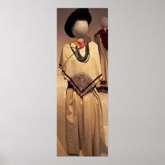 Ancient Aztec period dress Poster