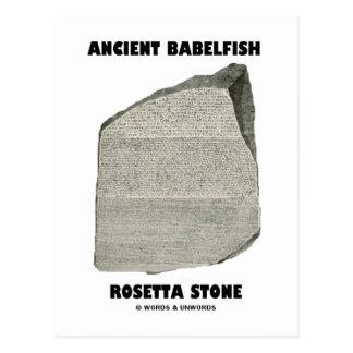 Ancient Babelfish Rosetta Stone Communication Post Cards