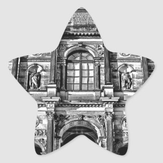 ancient beauty dresden germany building structure star sticker