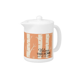 Ancient Birch Forest Orang Medium Porcelain Teapot