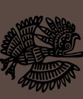Ancient Bird Motif American Apparel Poly-Cotton T Shirt