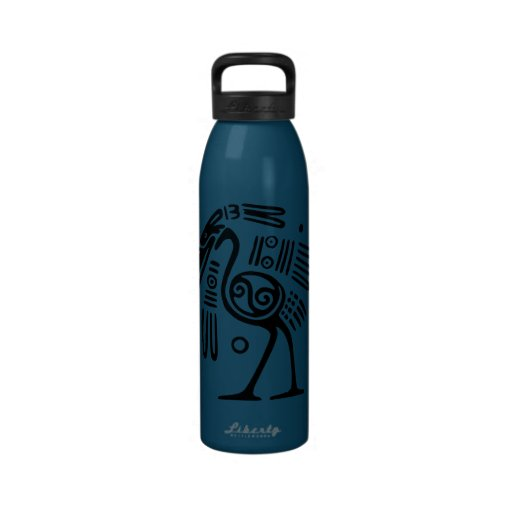 Ancient Bird Motif from Mexico Water Bottle
