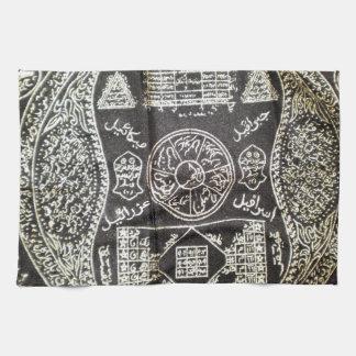 ANCIENT BLACK MAGIC SYMBOLS FOR GOOD LUCK TOWEL
