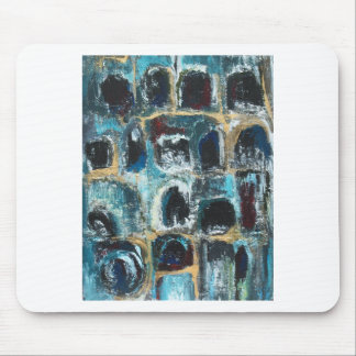 Ancient Blue Caves(abstract expressionism) Mouse Pad