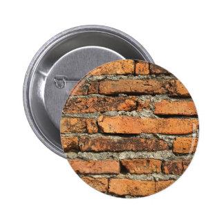 Ancient Brick Wall Pinback Button