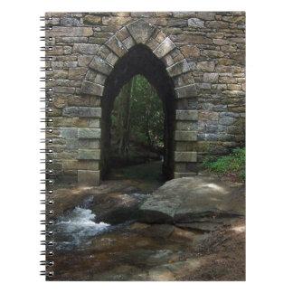Ancient Bridge Arch in Creek Notebook