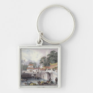 Ancient Bridge over the River at Chapro, c.1850 (c Key Chain