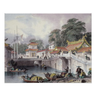 Ancient Bridge over the River at Chapro, c.1850 (c Poster