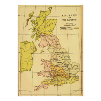 Ancient Britain Map Poster