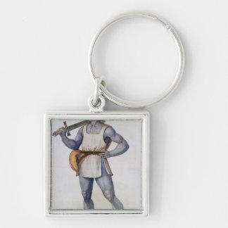 Ancient British Man Keychain