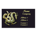 Ancient bronze chinese dragon business card templates