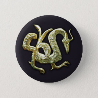 Ancient bronze chinese dragon button