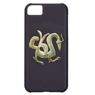 Ancient bronze chinese dragon case for iPhone 5C
