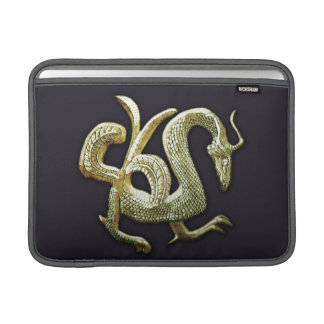 Ancient bronze chinese dragon MacBook sleeve