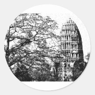 Ancient Buddhist Temple Classic Round Sticker