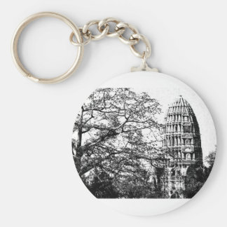 Ancient Buddhist Temple Keychain