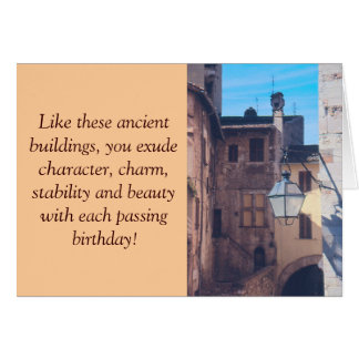 ANCIENT BUILIDINGS, STREET LANTERN, OLD EUROPEAN S STATIONERY NOTE CARD