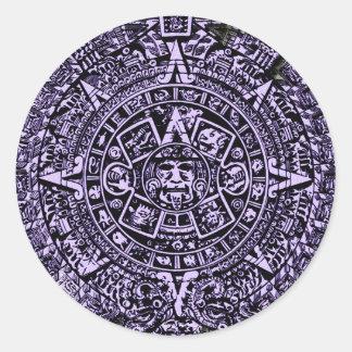 Ancient calendar classic round sticker