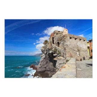 ancient castle in Camogli Art Photo