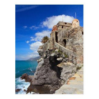 ancient castle in Camogli Postcard