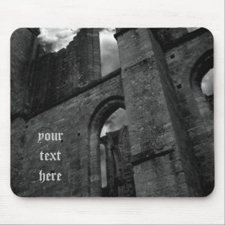 Ancient cathedral ruins mouse pad