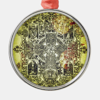 Ancient Celtic Ornament in Gold, Red, and Black