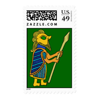 Ancient Celtic Warrior Postage Stamps