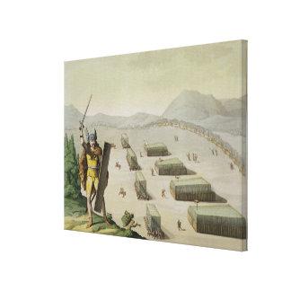 Ancient Celts or Gauls in Battle, c.1800-18 (colou Canvas Print