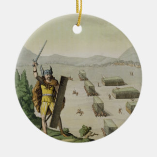 Ancient Celts or Gauls in Battle, c.1800-18 (colou Ceramic Ornament