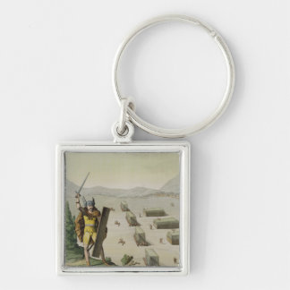 Ancient Celts or Gauls in Battle, c.1800-18 (colou Keychain